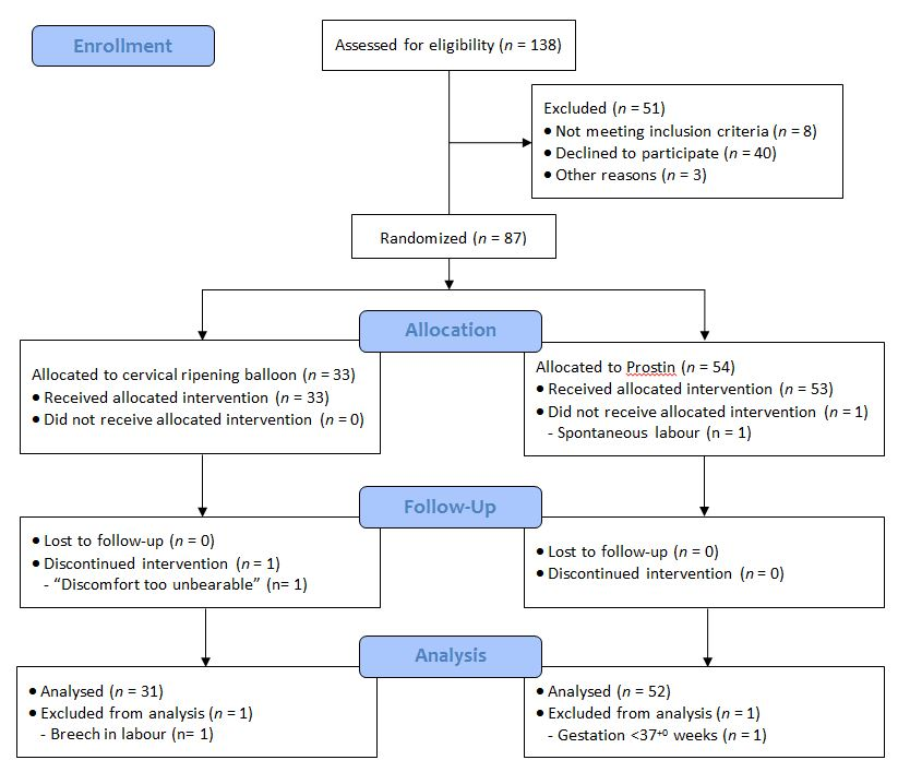 Obstetrics and gynaecology british journal of medical practitioners flow diagram of recruitment randomisation and completion status ccuart Choice Image